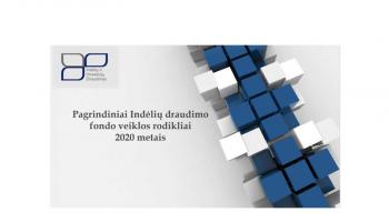 Pagrindiniai Indėlių draudimo fondo veiklos rodikliai 2020 metais